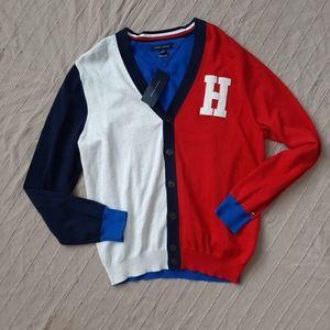 NWT Tommy Hilfiger Men Colorblock Varsity Cardigan